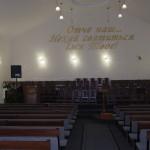 Das Bethaus der christlichen Gemeinde vor Ort