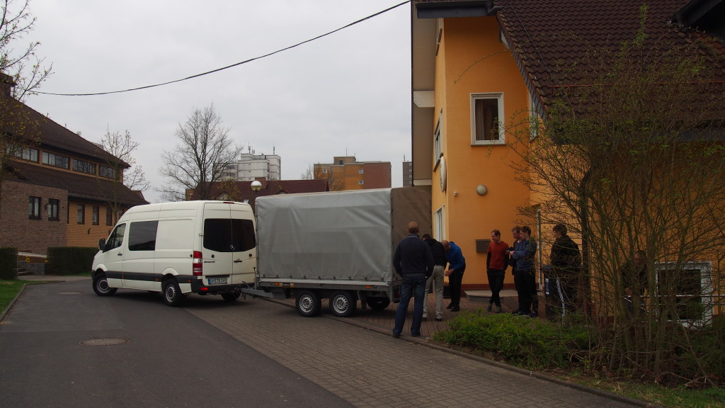 Abholen der Sachen in Fulda