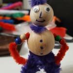 Und das ist er - Fredy. Die Kinder hatten viel Spaß beim Basteln